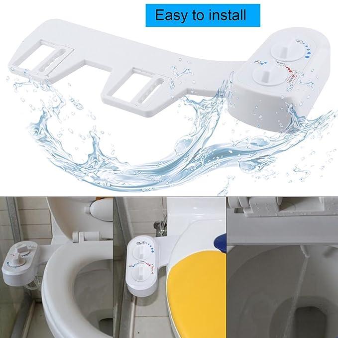 Homgrace - Boquilla doble de limpieza (frontal y trasera/lavado femenino) para agua fría y caliente, presión de agua ajustable: Amazon.es: Bricolaje y ...