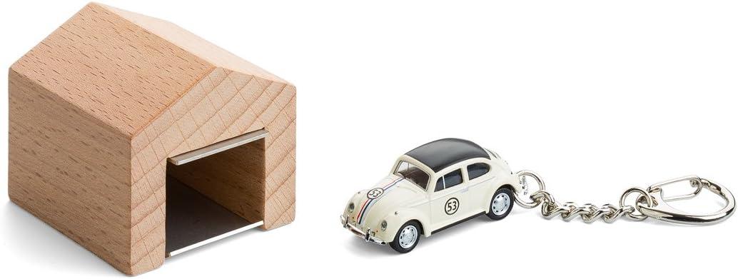 das Design-Schl/üsselboard aus Buchenholz und Edelstahl inkl Garage mit Kultauto f/ür die Wand corpus delicti Modellauto mit Schl/üsselanh/änger Citro/ën 2CV rot
