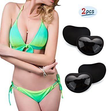 0c78d24a01 2 Pcs Women Sexy Triangle Pads Enhancer Pads Invisible Inserts Push Up Bra  Gel Pads Silicone Breast ...