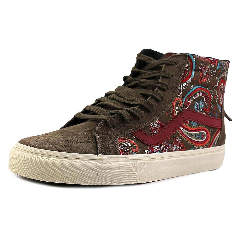 5e216e4df7 lovely Vans SK8 Hi Zip CA Paisley Olive Men s Skate Shoes ...
