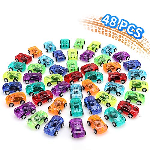 Cars Party Favor Boxes (nicknack 48PCS Pull Back Cars for Kids Birthday Party Favors Prizes Box Toy Pinata)
