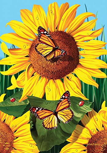 Briarwood Lane Sunflower Field Summer House Flag Butterflies Floral 28