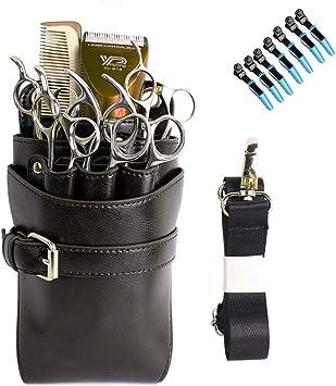 Bolsa de Tijeras Herramientas de Peluquería Profesional Funda para tijeras de peluquero, Organizador de tijeras,Color1,21X14x11cm: Amazon.es: Salud y cuidado personal