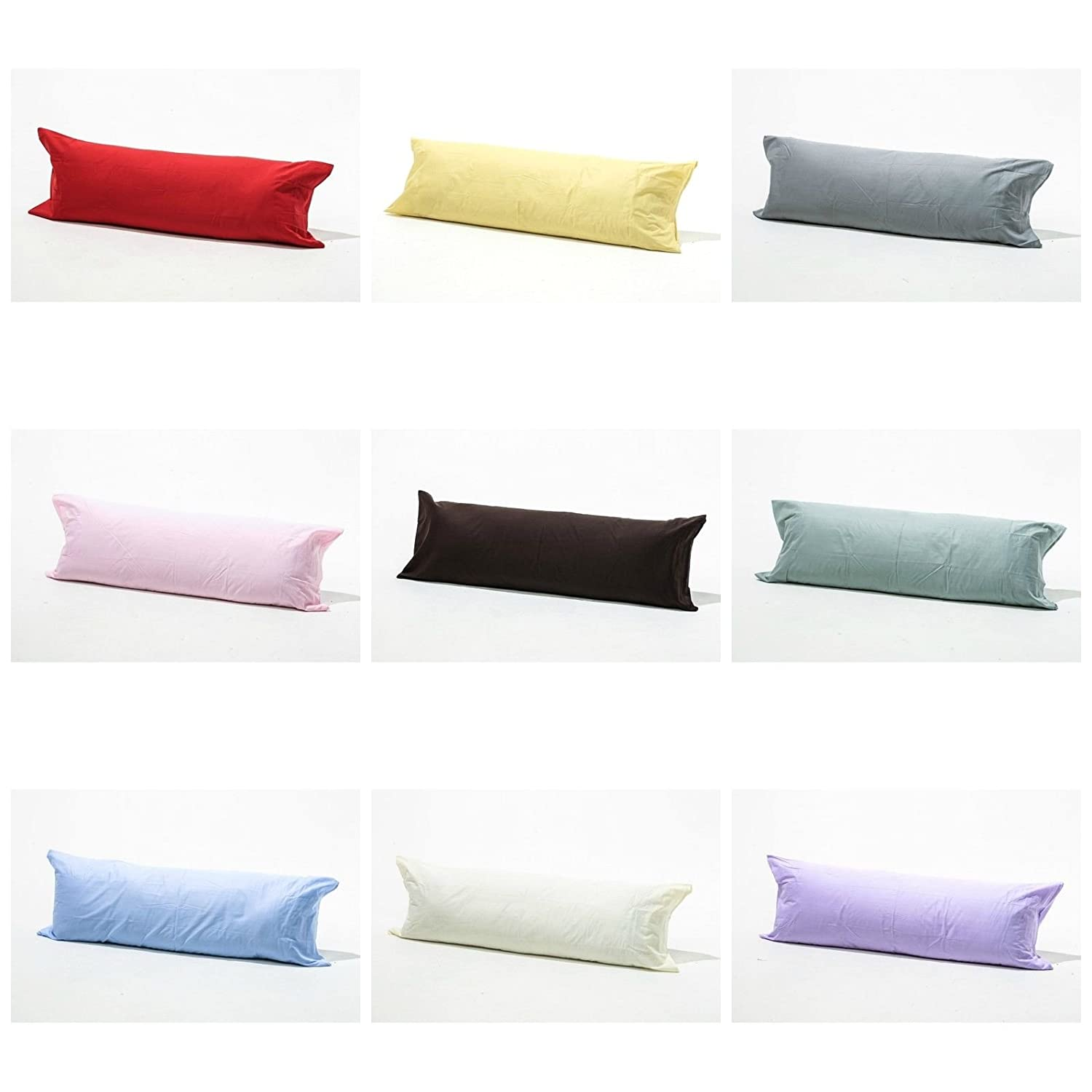 Bolster Pillowcases 100% Polycotton Blend Luxury product Range of Colours (3 Feet (36