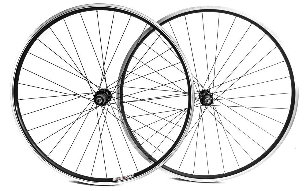 Stay-Tru Matrix 750 700c Road Bike Double Wall AL-6005 Wheelset 8-10 Speed Black QR New by Stay-Tru