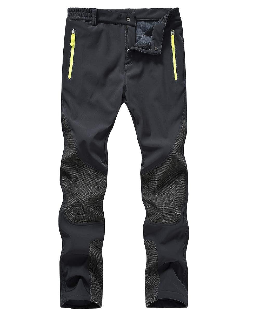 YSENTO Skiing Pants for Women Waterproof Quick Dry Fleece Insulated Pants Zipper Pockets