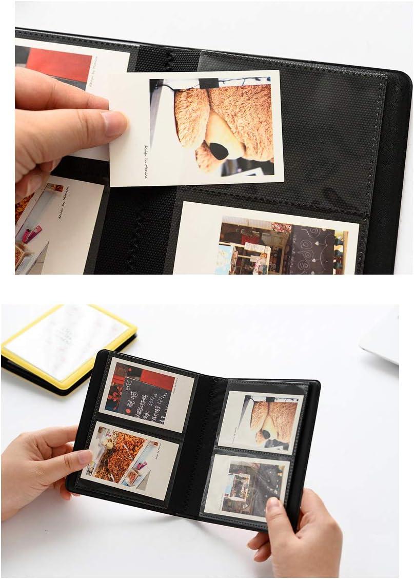 7,6 cm JXE Fotoalbum Namenskartenhalter f/ür Fujifilm Instax Mini 7s 8 9 25 50s Sofortfilme 64 Taschen Flamingo-Fotoalbum
