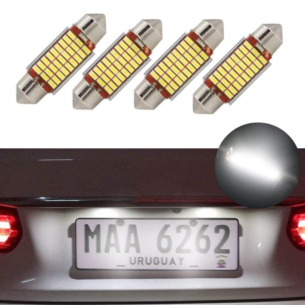 LED bombillas de adorno 39mm Canbus error blanco libre E3175 DE3021 DE3022 LED coche interior luces bombillas 12v 5050 para la luz de matrí cula de la bó veda de espejo de vanidad jose201606