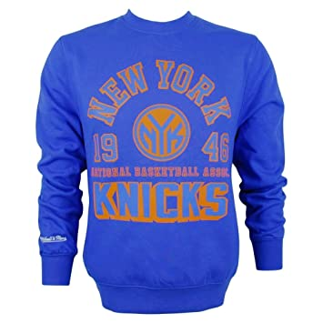 Mitchell & Ness New York Knicks Est, 1946 Crew neck NBA sudadera-camiseta azul