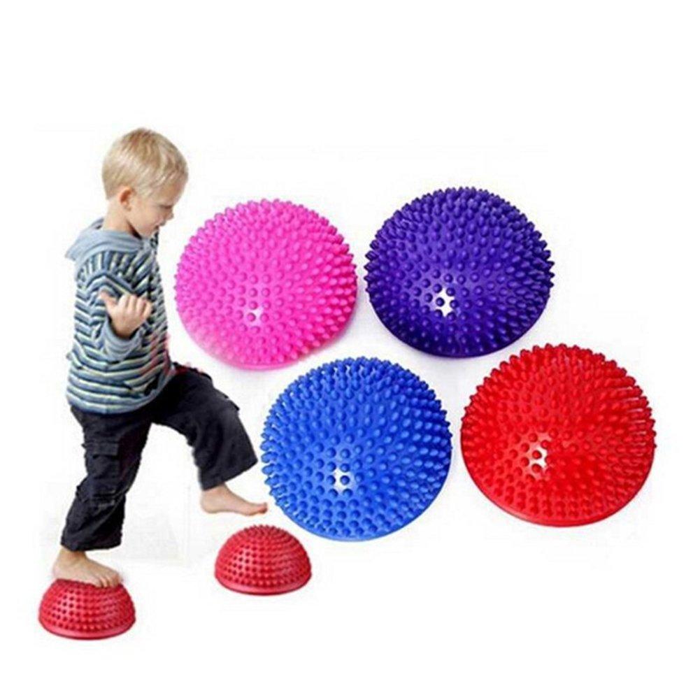 Zantec Erwachsene Kinder Yoga Fuß Halbe Runde Massage Kissen Spiky Balance Bälle Gewölbte Stabilität Pods