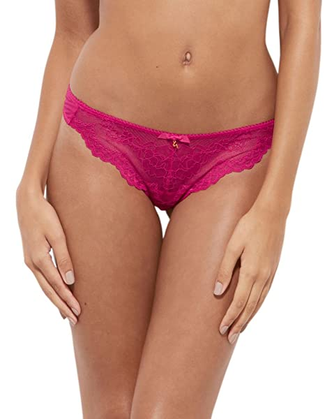 484490856495 Gossard 7716 Women's Superboost Lace Bright Rose Pink Panty Thong Sml