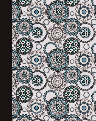 Sketch Journal: Animal Print Mandala (Turquoise and Pink) 8x10 - Pages are LINED ON THE BOTTOM THIRD with blank space on top (8x10 Mandala Design Sketch Journal Series) by CreateSpace Independent Publishing Platform
