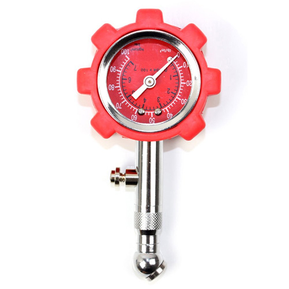 Ocamo High Precision Car Tire Pressure Monitor Pneumatic Tire Pressure Gauge Universal Use Red