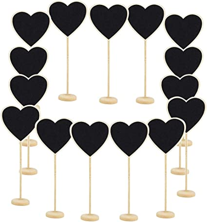 Sign Wedding Hanging Mini Blackboard Love Heart Chalkboard Wooden Message Label