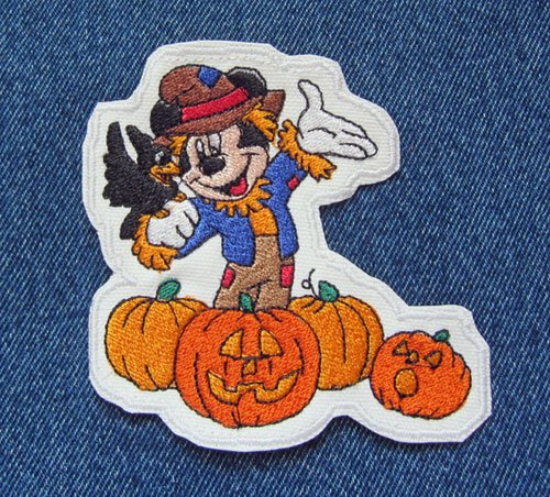 Mickey Mouse As The Crow Flies Disney Inspired Halloween Iron On -