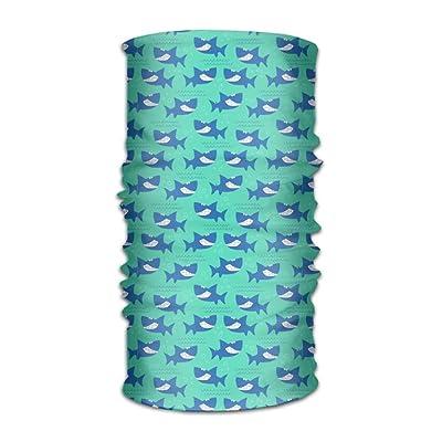 Unisex Shark Fish Oceam Multifunction Changed Headwear Headscarf Bandanas