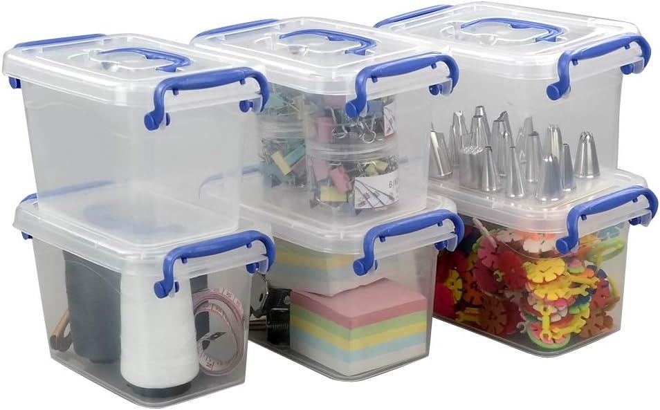 Eudokky 1.8L Caja de Almacenamiento de Plástico con Tapas ...