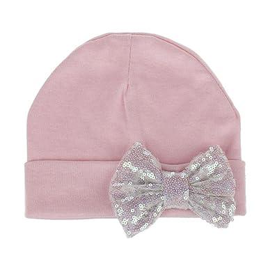 Bonnet Bébé, Enfants Pure Couleur Paillettes Bow Noeud Chapeau Garçon  Filles Casquettes Solides Chapeaux, bed6ba06706