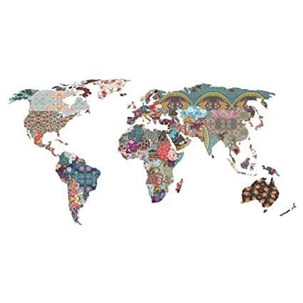 Us Map Photo Collage.Amazon Com My Wonderful Walls Collage World Map Wall Decal Louis