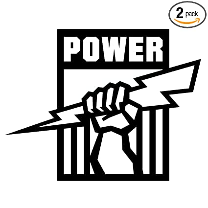 Port adelaide power logo black set of 2 silhouette stencil artwork