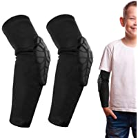ACELIST Kids/Youth 5-15 Years Sports Honeycomb Compression Knee Pad Elbow Pads Guards Protective Gear for Basketball…