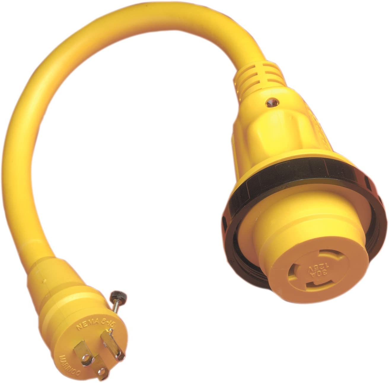 Marinco Marine Electrical Shore Power Pigtail Adapter, Yellow : Boating Shore Power Adapters : Sports & Outdoors