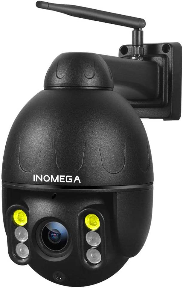 INQMEGA 4MP Outdoor PTZ Camera, WiFi Pan Tilt 4.1X Surveillance Security IP Weatherproof Camera with 2 Way Audio Night Vision,Motion Detection,for Backyard/Office/Shop/School/Hospital