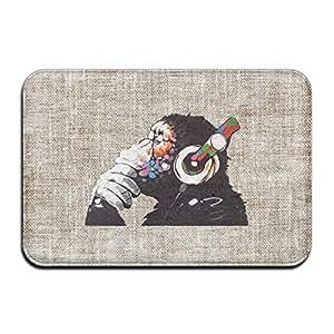 "Ape diseño de mono Gorilla DJ mono cool cocina baño Felpudo (16x 24"""