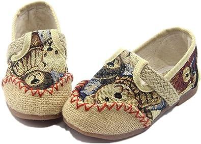 Tianrui Crown Boys and Girls Linen Sneaker Loafer Shoes Kids Cute Flat Shoe