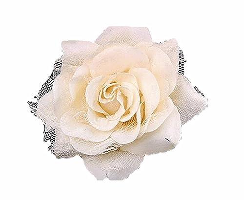 Braut Haarschmuck Kopfschmuck Brustblume Haarblume Blumen Haarspange Damen Accessoires mit Sicherhei...