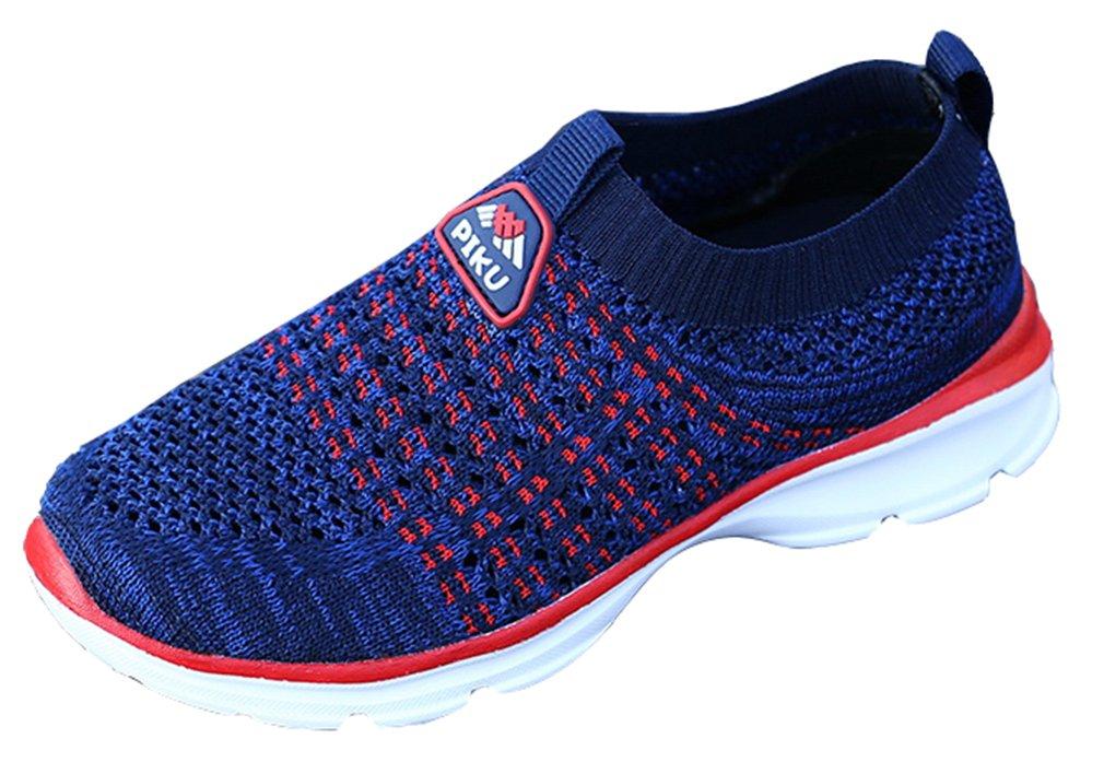 VECJUNIA Boy's Casual Breathable Mesh Slip-On Athletic Sports Shoes Running (Dark Blue, 1 M US Little Kid)