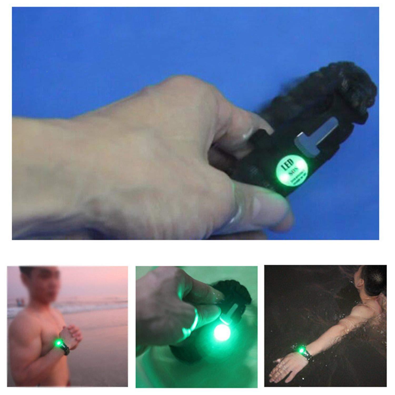 Nrpfell 10 en 1 Multifonctionnel Exterieur thermometre Compas Bracelet de Tissage de Survie Bracelet Corde Parapluie Auto Defense Survie Bracelet Outil Montagne
