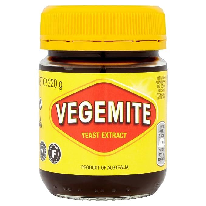 Kraft Vegemite Extracto De Levadura 220g   Producto de Australia   Kraft Vegemite Yeast Extract Spread: Amazon.es: Alimentación y bebidas