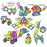 Magnetic Blocks Building Blocks for Kids,Magnetic Block Set Educational Toys for Toddlers Baby Kids Up 3, 87 Pcs