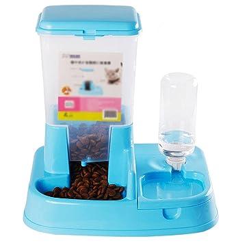 MEILI Suministros para mascotas comederos automáticos cuencos dobles gatos y perros bebederos automáticos universales cuenco de comida para gatos y perros ...