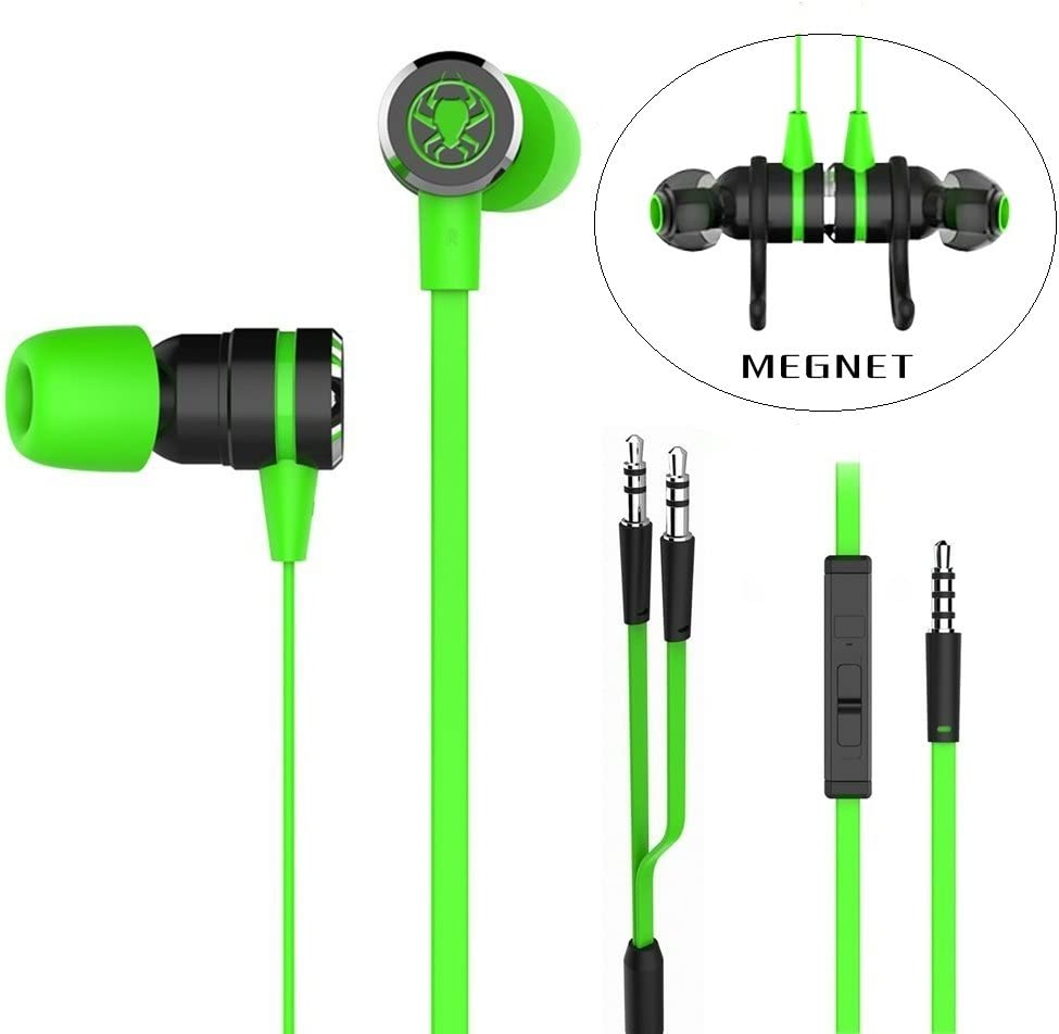 GranVela G20 Wired Gaming Earbuds,HD Sound Hammering Bass Noise Isolation in Ear Gaming Headphones with Mic
