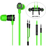 Granvela Gaming Earbuds, G20 Hammering Bass In Ear Gaming Headphones Noise Isolating Magnet Earphones with Mic and Volume Control For Xbox,PS4, PC and Macbook. Cable Length 2.2M. (Green)
