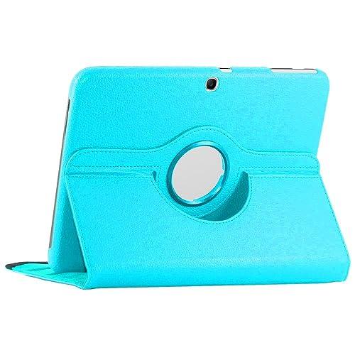 ebestStar - Housse Samsung Galaxy Tab 3 10.1 GT-P5210, 10 pouces P5200 P5220 - Housse Coque Etui PU cuir Support rotatif 360° + Film, Couleur Bleu [Dimensions PRECISES de votre appareil : 243.1 x 176.1 x 8 mm, écran 10.1'']