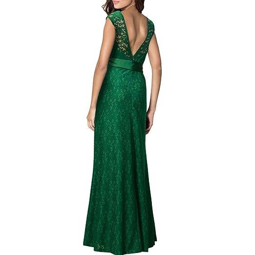 Vestido de mujer Sexy Señoras Floral Cordón La longitud del piso Boda Dama de honor Elegante Princesa Cóctel Ball Prom Vestidos de fiesta por la noche ...