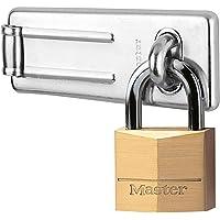 Master Lock hangslot, gelamineerd stalen hangslot met sluiting, sleutelslot, best gebruikt als poortslot, schuurslot…