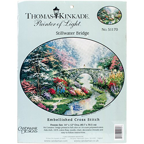 (Thomas Kinkade Painter of Light Stillwater Bridge Embellished Cross Stitch)