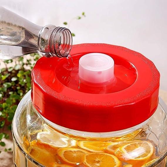 Marceooselm Con un Jugo de Grifo Sellado Dispensador de latas, Botella de Vino Tarro de Kimchi Botella de Vidrio de Vino Enzima Barril, Dispensador automático de Bebidas de Escape (Size : 10L):
