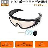 スポーツカメラHD 1080P-超小型カメラ隠すカメラスキー用メガネ 軽量 メガネスノボゴーグル-高画質 長時間録画対応2.5h-アウトドアスポーツ用 サバゲー ゴーグル