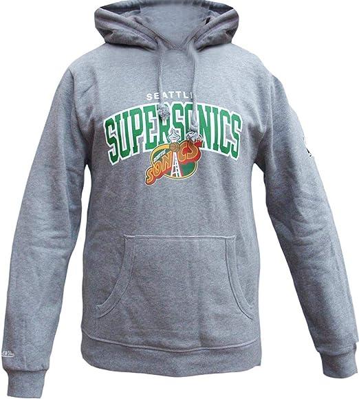 Mitchell /& Ness Golden State Warriors HWC Arch Logo Hoody Black Hoodie Sweater Herren Mens