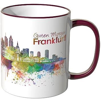 Morgen Frankfurt wandkings tasse schriftzug guten morgen frankfurt mit skyline