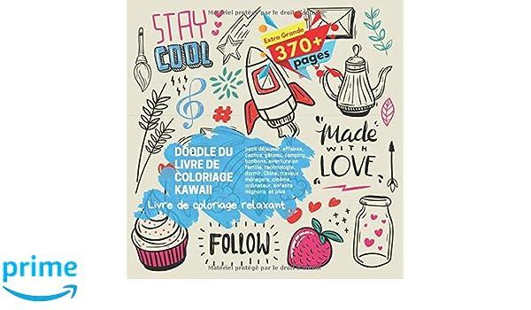 Doodle Du Livre De Coloriage Kawaii Livre De Coloriage Relaxant