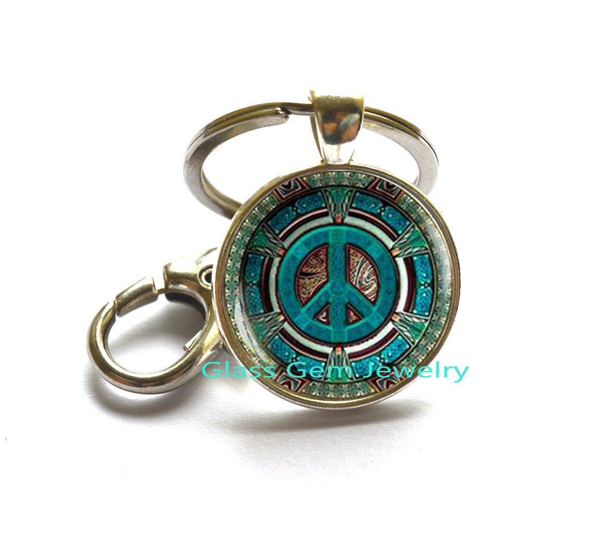 Hippie llavero, llavero, Hippie Hippie joyas, símbolo de la ...