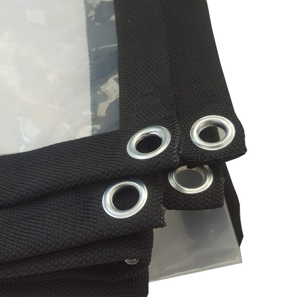 2x6m LQQFF Transparent tarpaulin Thick tarpaulin waterproof, white transparent plastic film, greenhouse insulated tarpaulin Dust and rain cover (Size   2x6m)