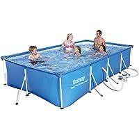 Bestway 56424 - Piscina Desmontable Tubular Infantil Family Splash Frame Pool 400x211x81 cm Depuradora de cartucho de 1…
