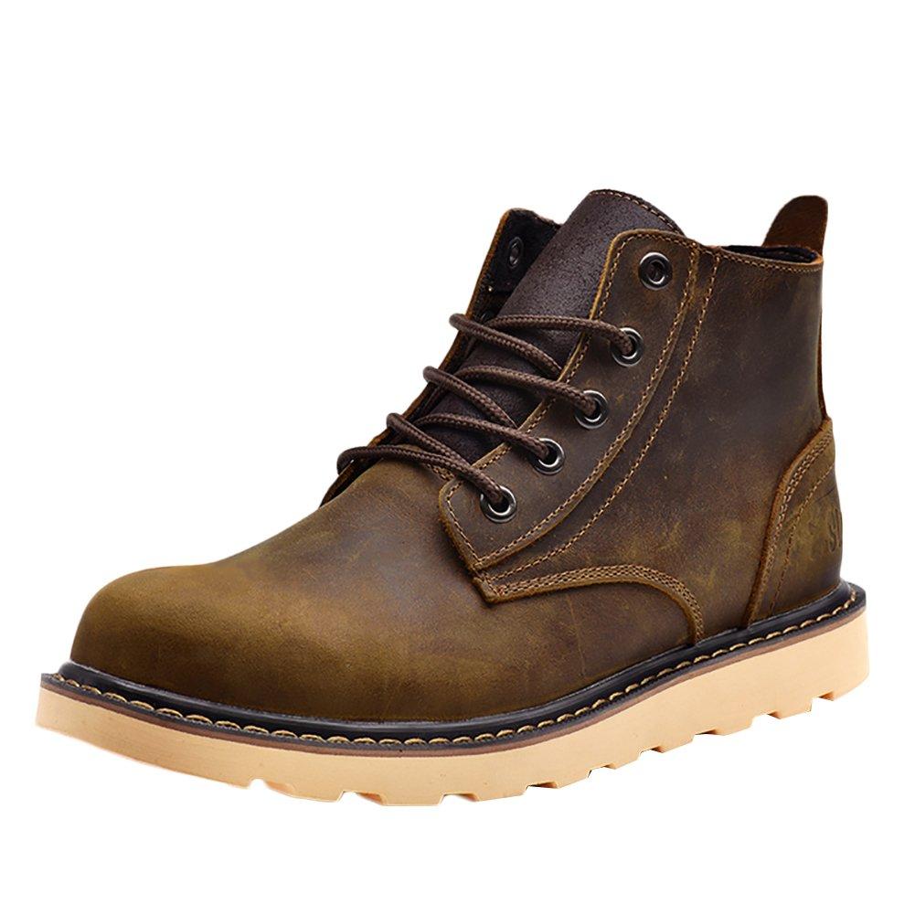 Insun Stiefel Stiefelschuhe Derby Schnürhalbschuhe Kurzschaft Stiefel Winter Stiefel für Herren Damen